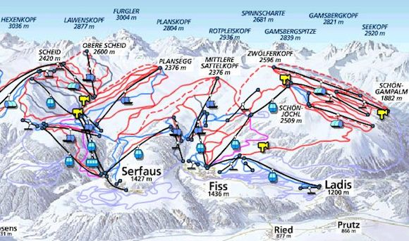 Serfaus_map_ski