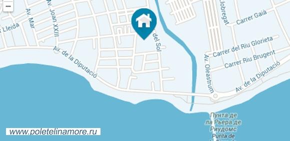Апартаменты на Коста Дорада Турагентство Полетелинаморе  90204-mapa