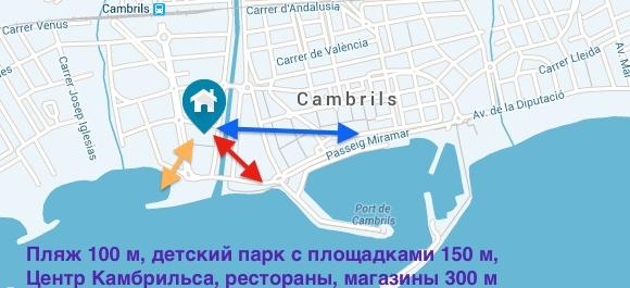 Апартаменты на Коста Дорада Турагентство Полетелинаморе poleteli-11900818-mapa