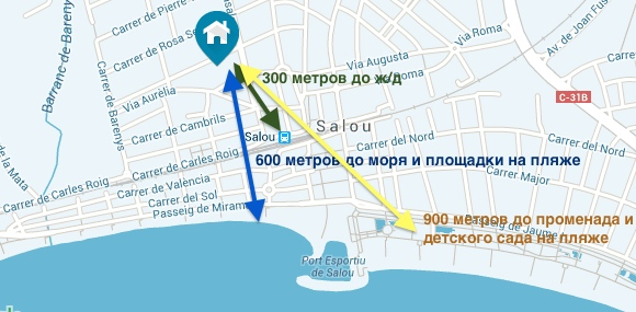 Апартаменты в Испании Турагентство Полетелинаморе poleteli-14345211-mapa
